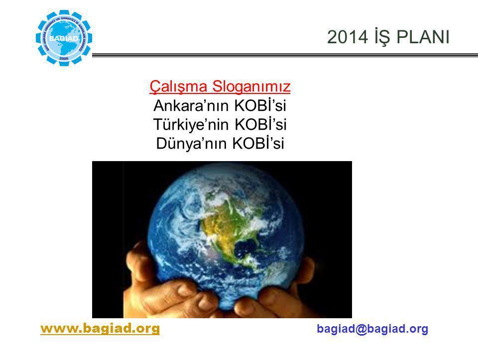 2014 İŞ PLANI Çalışma Sloganımız Ankara'nın KOBİ'si