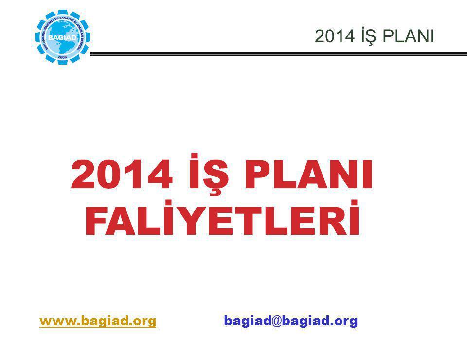 2014 İŞ PLANI FALİYETLERİ 2014 İŞ PLANI