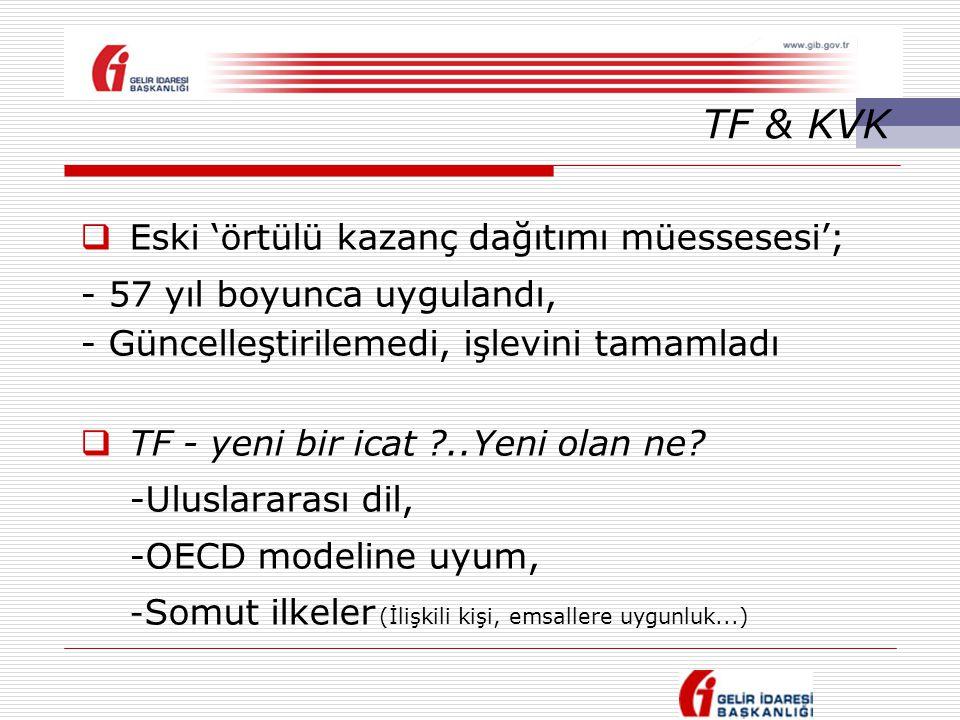 TF & KVK Eski 'örtülü kazanç dağıtımı müessesesi';