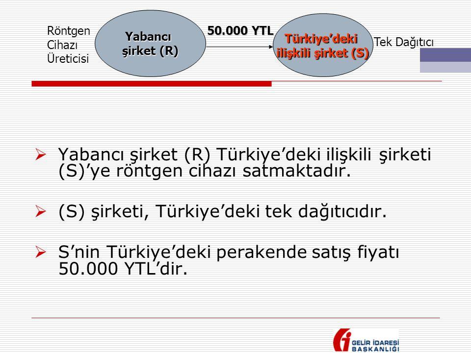 (S) şirketi, Türkiye'deki tek dağıtıcıdır.