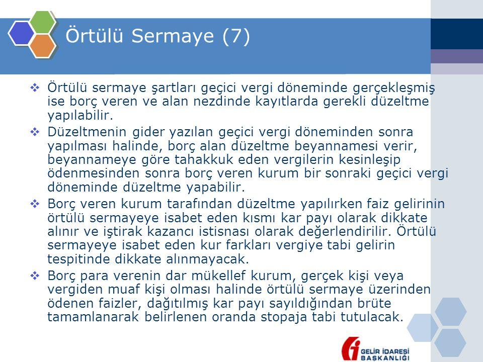 Örtülü Sermaye (7)