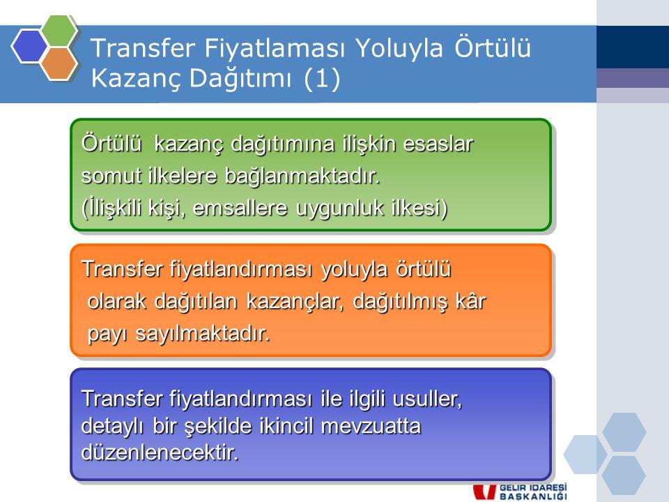 Transfer Fiyatlaması Yoluyla Örtülü Kazanç Dağıtımı (1)