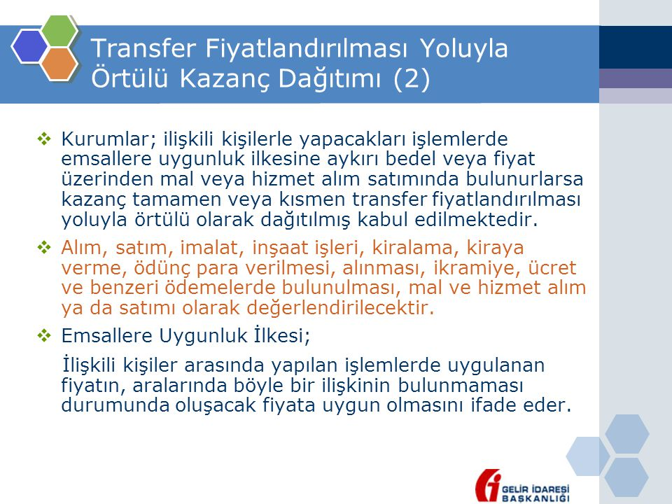 Transfer Fiyatlandırılması Yoluyla Örtülü Kazanç Dağıtımı (2)