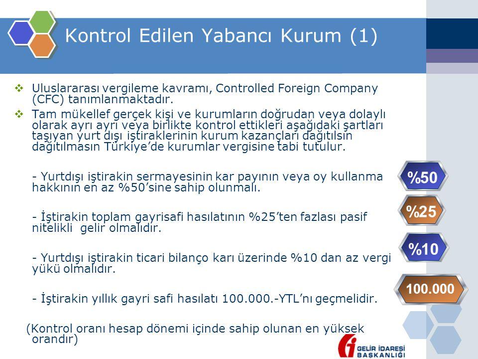 Kontrol Edilen Yabancı Kurum (1)