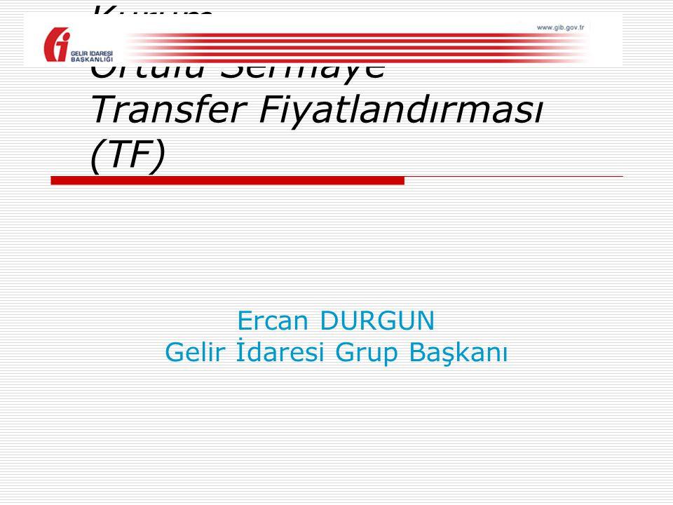 Ercan DURGUN Gelir İdaresi Grup Başkanı