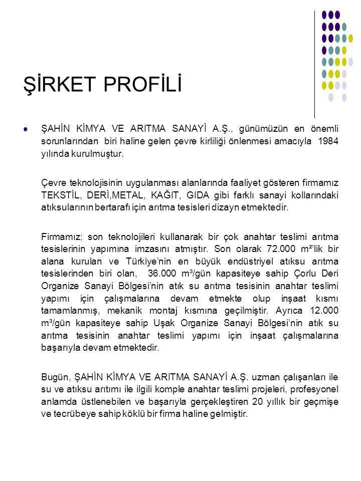 ŞİRKET PROFİLİ