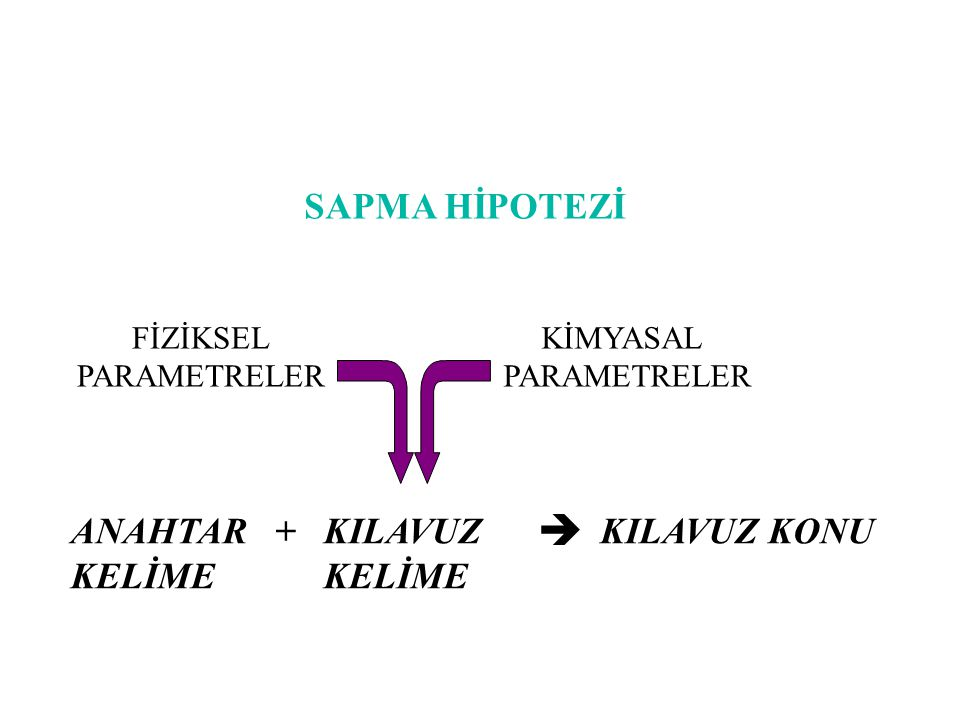 SAPMA HİPOTEZİ ANAHTAR + KILAVUZ KELİME KELİME KILAVUZ KONU FİZİKSEL