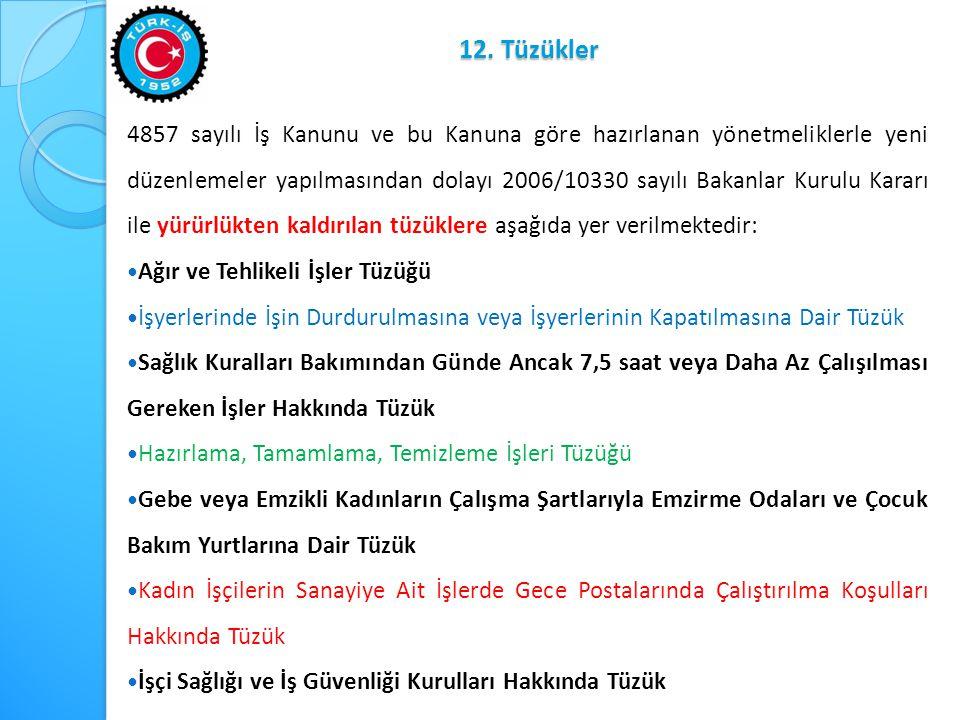 12. Tüzükler