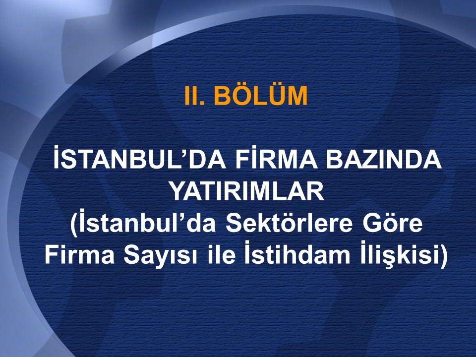 İSTANBUL'DA FİRMA BAZINDA YATIRIMLAR