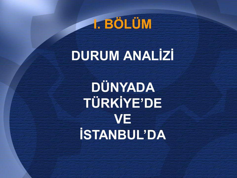 I. BÖLÜM DURUM ANALİZİ DÜNYADA TÜRKİYE'DE VE İSTANBUL'DA
