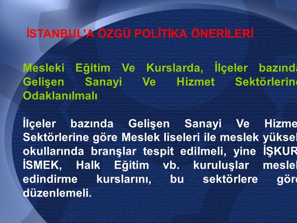 İSTANBUL'A ÖZGÜ POLİTİKA ÖNERİLERİ