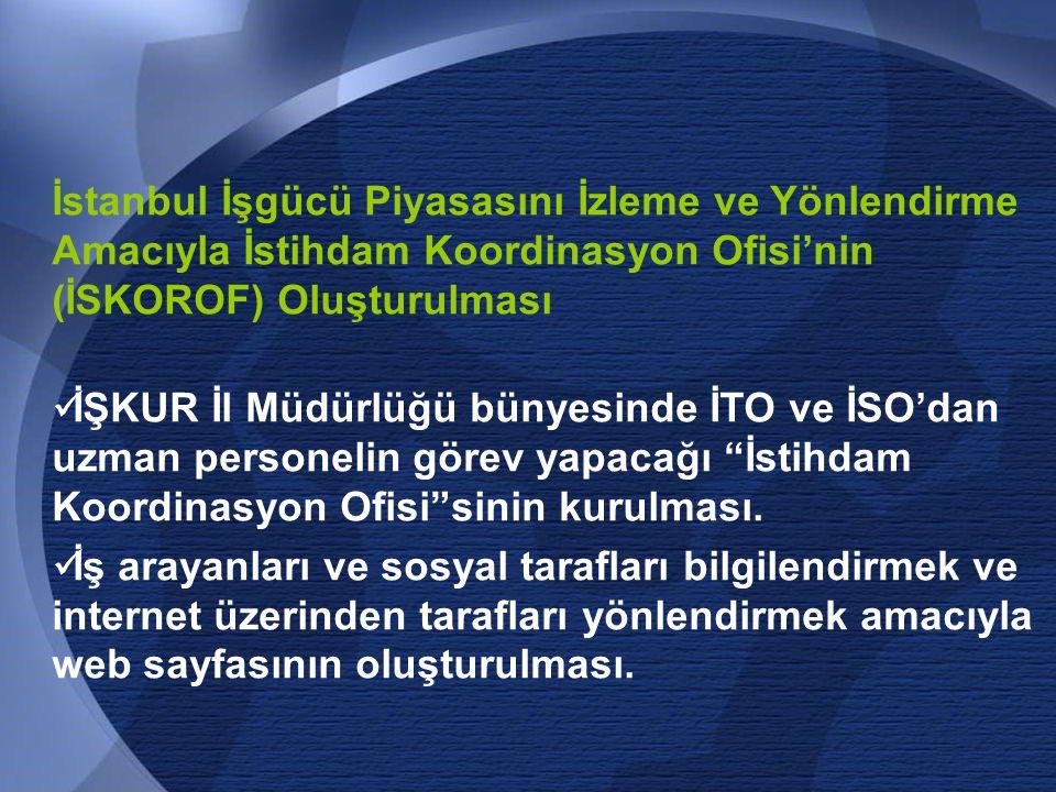 İstanbul İşgücü Piyasasını İzleme ve Yönlendirme Amacıyla İstihdam Koordinasyon Ofisi'nin (İSKOROF) Oluşturulması