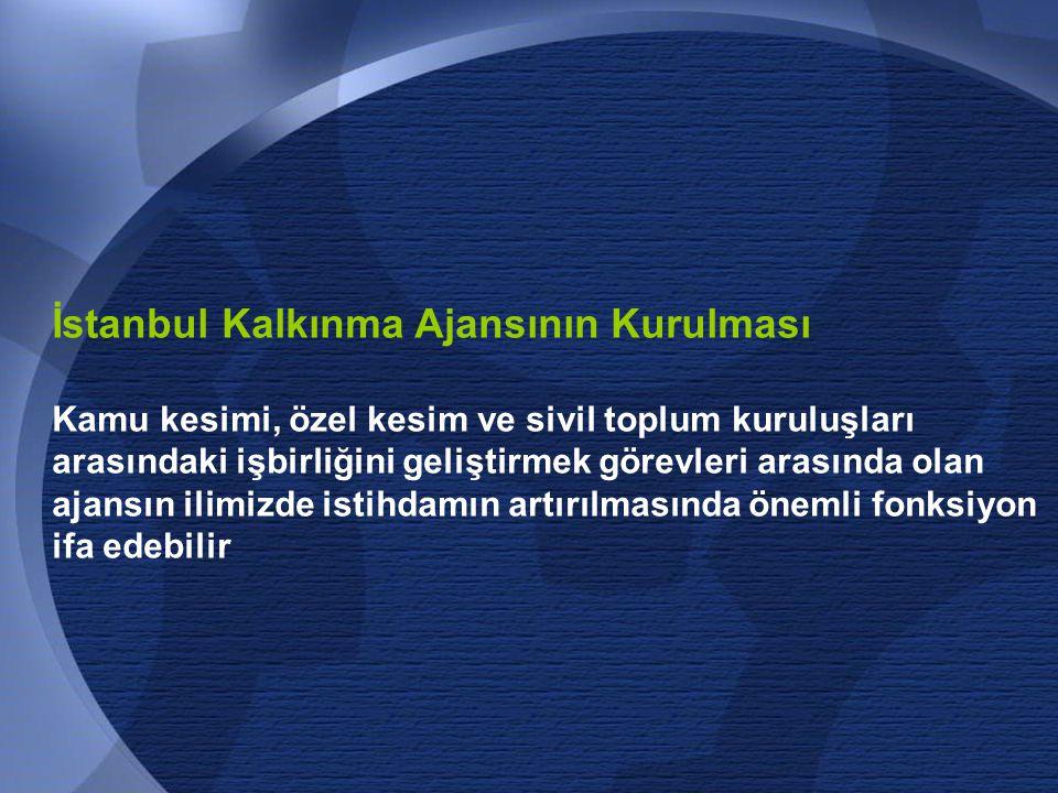 İstanbul Kalkınma Ajansının Kurulması