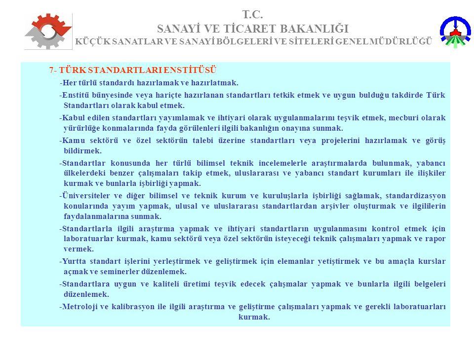 7- TÜRK STANDARTLARI ENSTİTÜSÜ