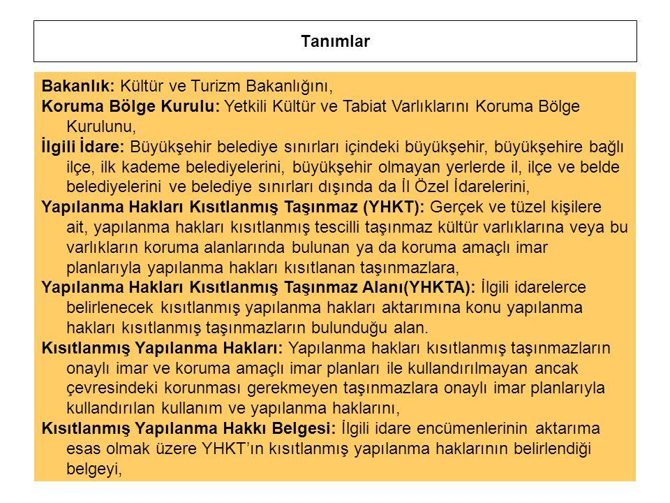Tanımlar Bakanlık: Kültür ve Turizm Bakanlığını, Koruma Bölge Kurulu: Yetkili Kültür ve Tabiat Varlıklarını Koruma Bölge Kurulunu,