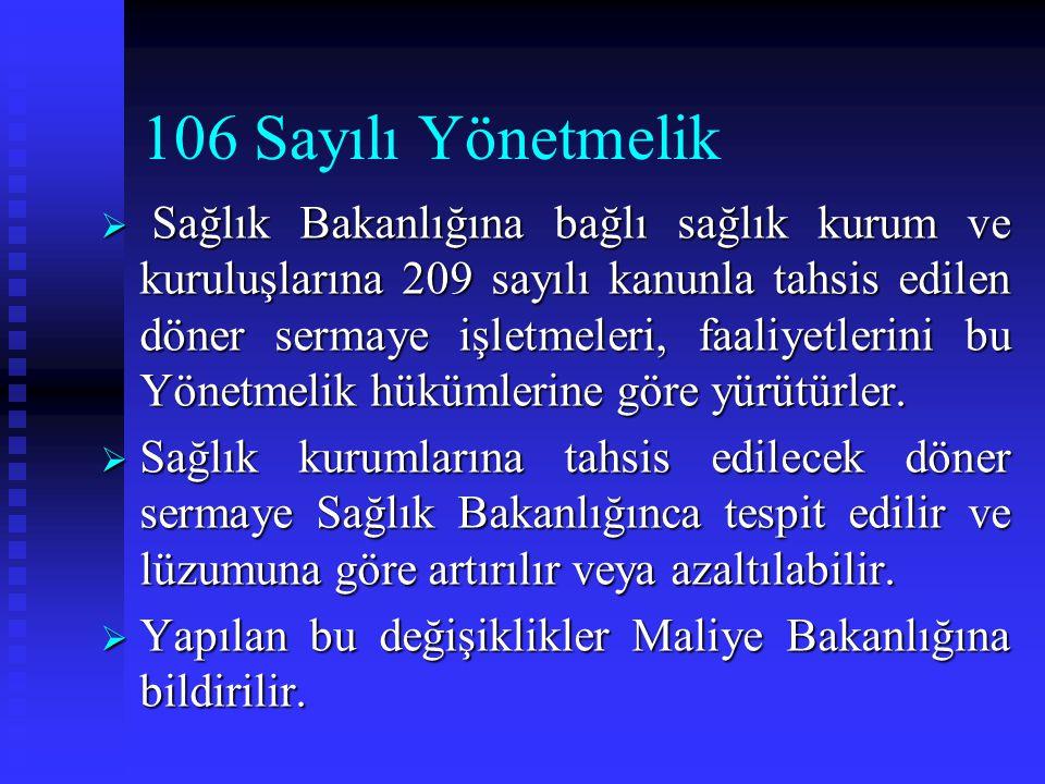 106 Sayılı Yönetmelik