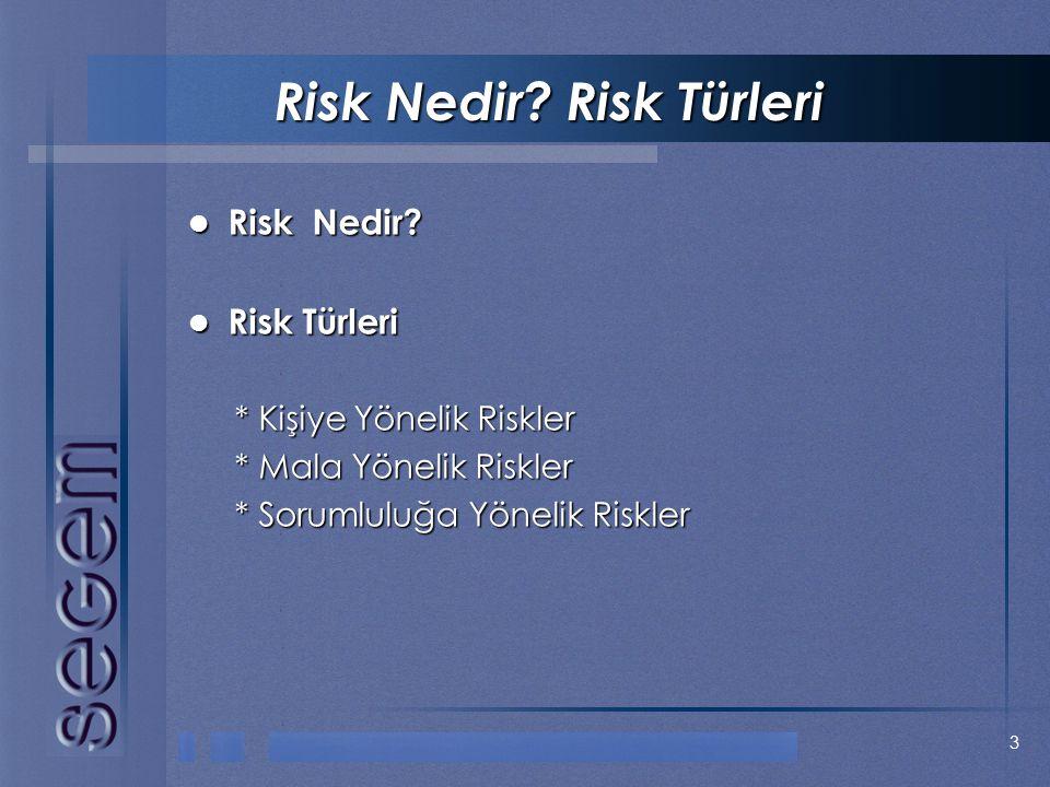 Risk Nedir Risk Türleri