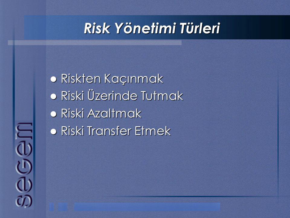 Risk Yönetimi Türleri Riskten Kaçınmak Riski Üzerinde Tutmak