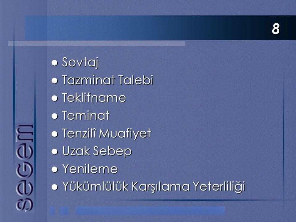 8 Sovtaj Tazminat Talebi Teklifname Teminat Tenzilî Muafiyet