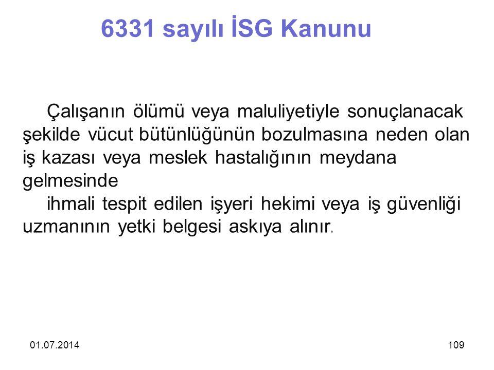 6331 sayılı İSG Kanunu