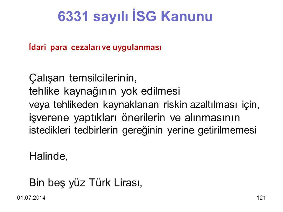 6331 sayılı İSG Kanunu Çalışan temsilcilerinin,