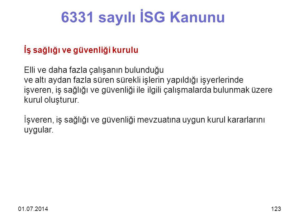 6331 sayılı İSG Kanunu İş sağlığı ve güvenliği kurulu