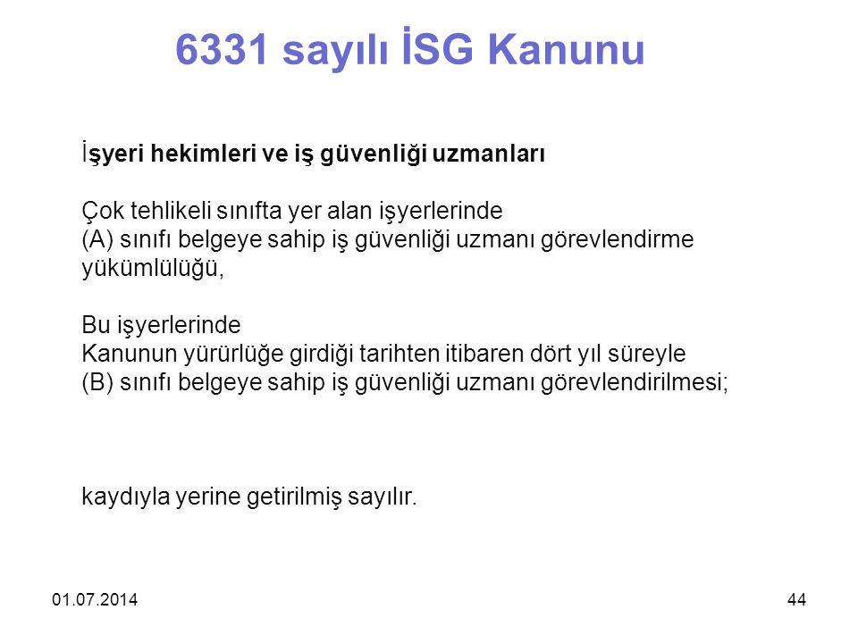 6331 sayılı İSG Kanunu İşyeri hekimleri ve iş güvenliği uzmanları