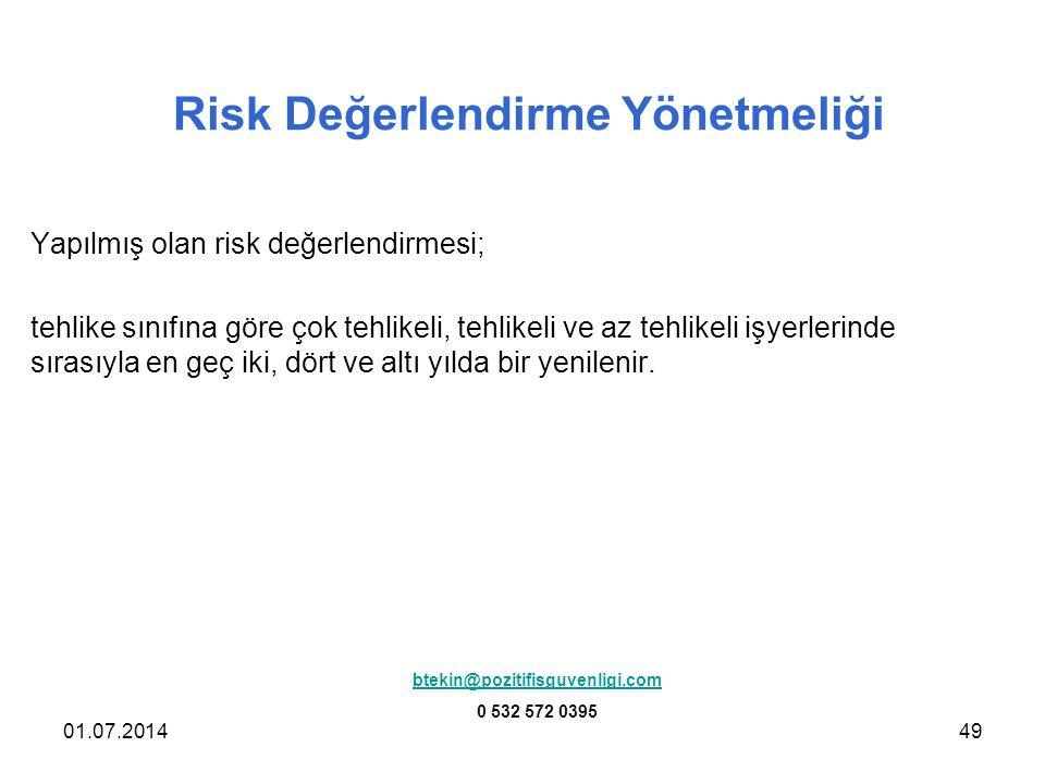Risk Değerlendirme Yönetmeliği