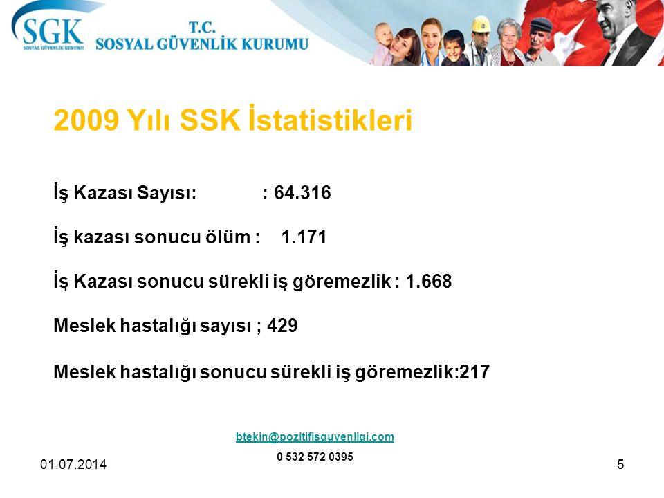 2009 Yılı SSK İstatistikleri