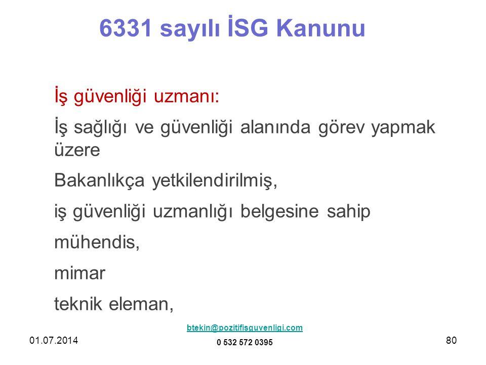 6331 sayılı İSG Kanunu İş güvenliği uzmanı:
