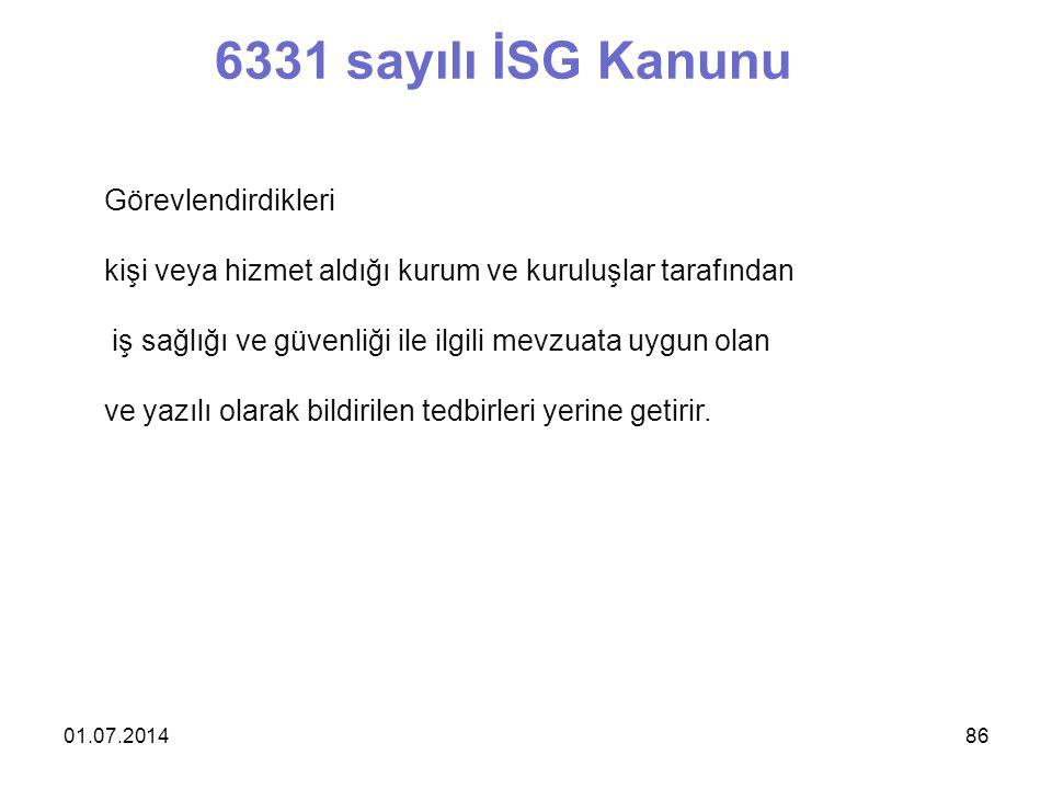 6331 sayılı İSG Kanunu Görevlendirdikleri