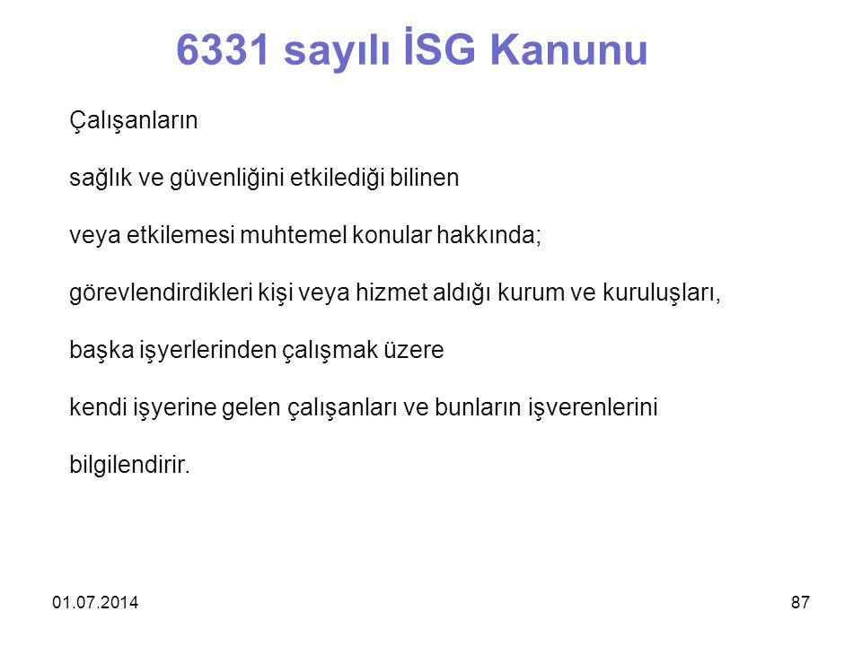 6331 sayılı İSG Kanunu Çalışanların