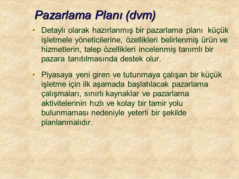 Pazarlama Planı (dvm)