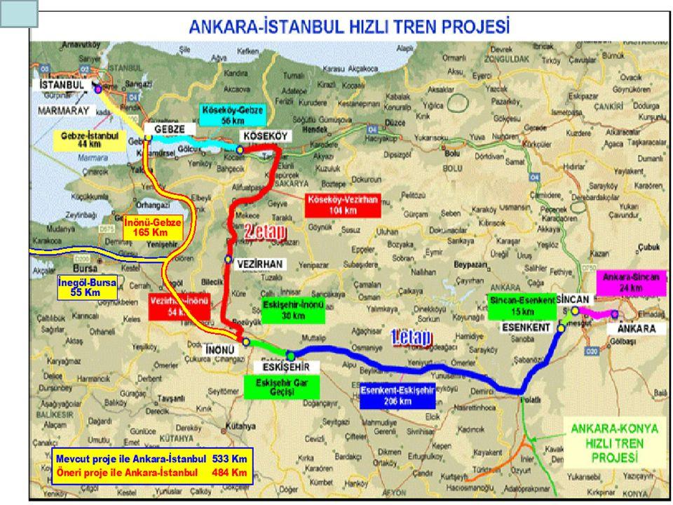 İstanbul - Ankara karayolu 435 km
