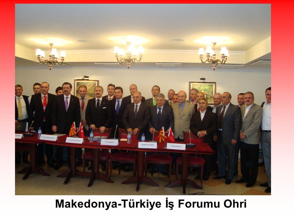 Makedonya-Türkiye İş Forumu Ohri