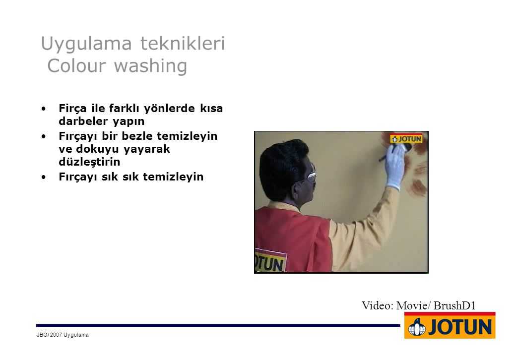 Uygulama teknikleri Colour washing