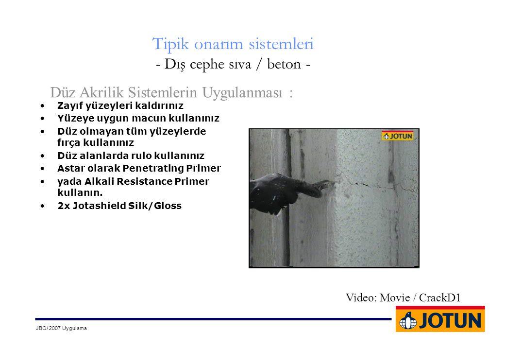 Tipik onarım sistemleri - Dış cephe sıva / beton -