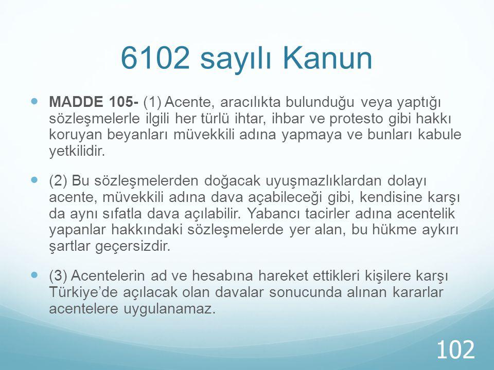 6102 sayılı Kanun