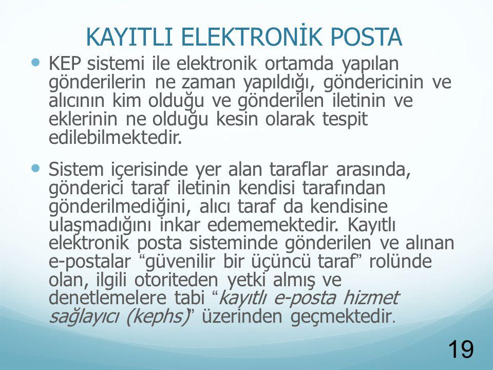 KAYITLI ELEKTRONİK POSTA