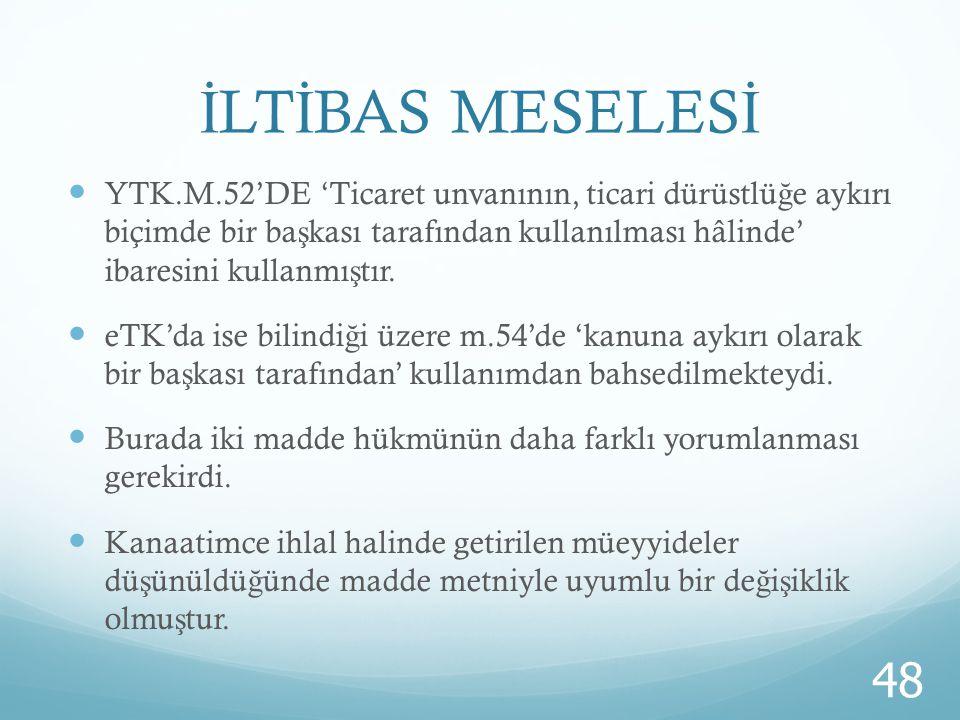 İLTİBAS MESELESİ