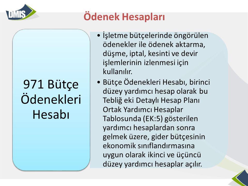 971 Bütçe Ödenekleri Hesabı