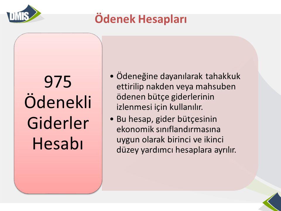975 Ödenekli Giderler Hesabı