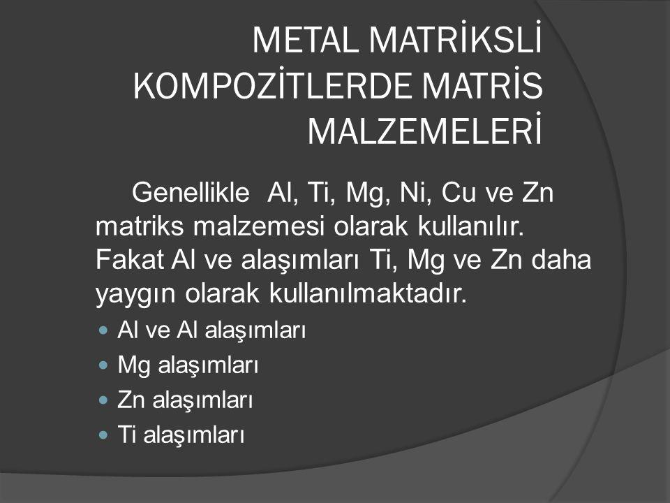 METAL MATRİKSLİ KOMPOZİTLERDE MATRİS MALZEMELERİ