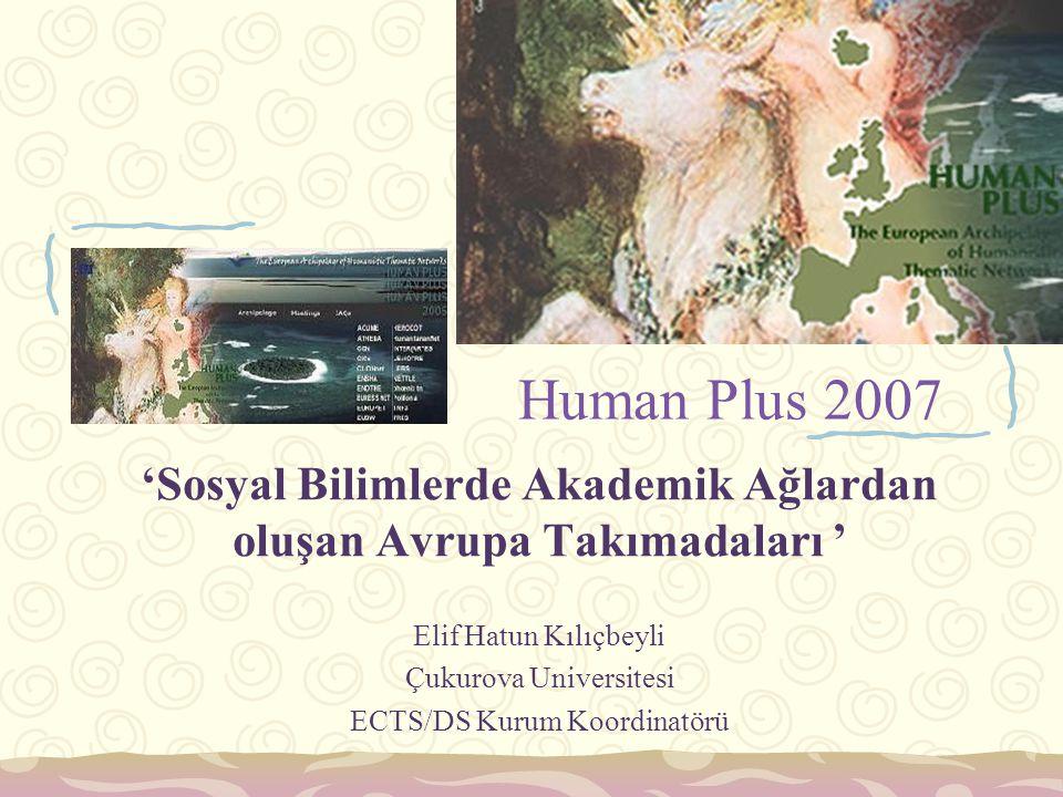 Human Plus 2007 'Sosyal Bilimlerde Akademik Ağlardan oluşan Avrupa Takımadaları ' Elif Hatun Kılıçbeyli.