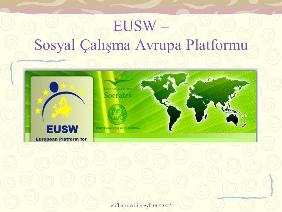 EUSW – Sosyal Çalışma Avrupa Platformu