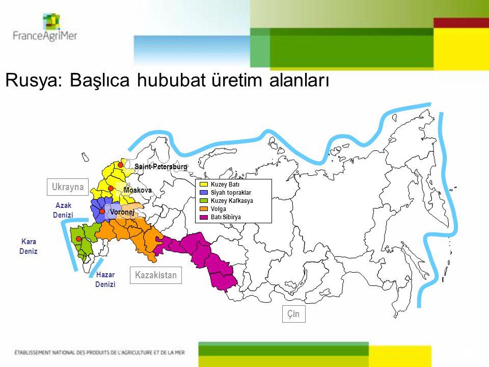 Rusya: Başlıca hububat üretim alanları