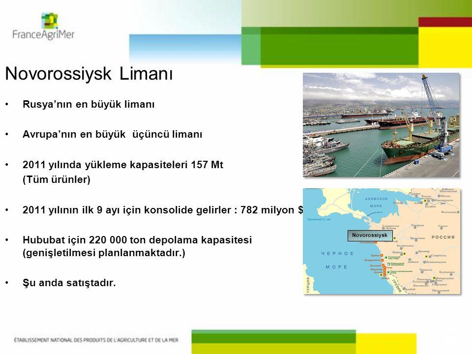 Novorossiysk Limanı Rusya'nın en büyük limanı