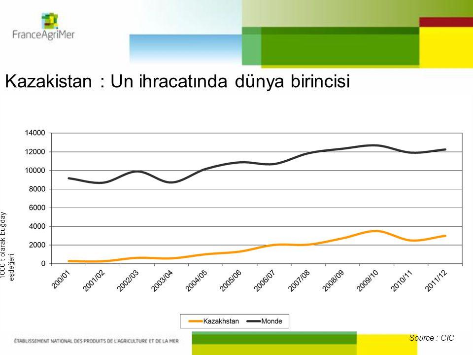 Kazakistan : Un ihracatında dünya birincisi