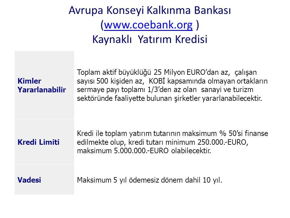 Avrupa Konseyi Kalkınma Bankası (www. coebank