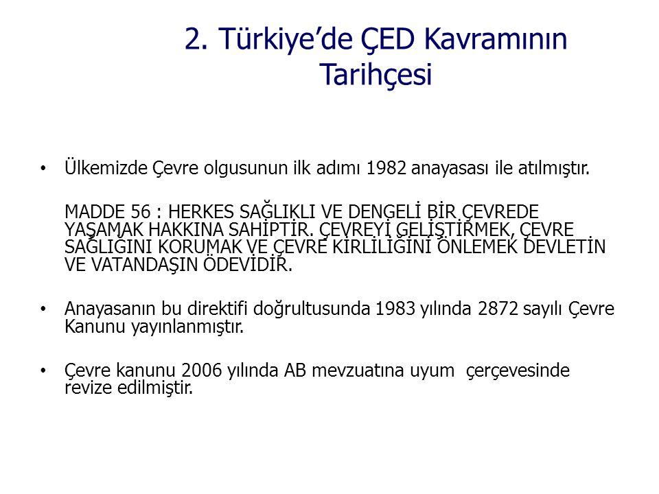 2. Türkiye'de ÇED Kavramının Tarihçesi